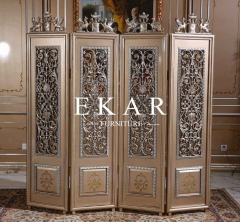 Baroque New Design Wooden Folding Screen