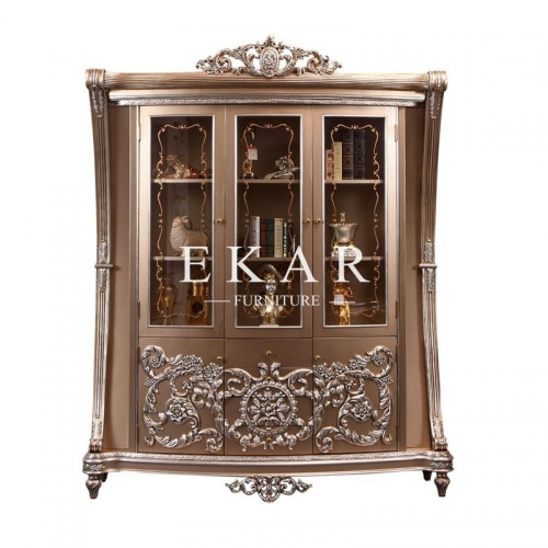 Luxury Vintage Gold Bar Unit Bar Cabinet Glass Cabinet