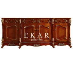 Luxury Style Wooden Carved Floor Cabinet Ground Cabinet