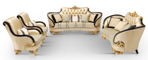 Luxury Sofa Furniture Upholstered Leather Couch For Sale