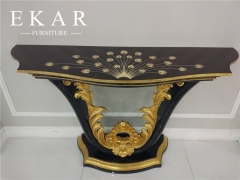Newly Designed Peacock Wooden High Gloss Hallway Table