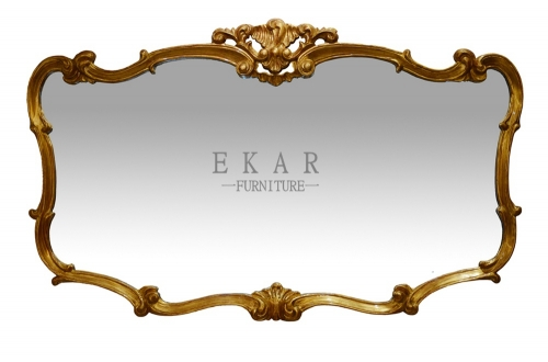 Bid Special Golden Wooden Hallway Mirror