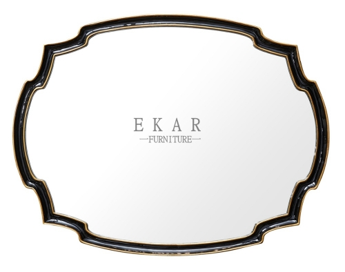 Mirror Black Framed Irregularly Shaped Wooden Wall Mirror/Console Mirror/Hanging Mirror