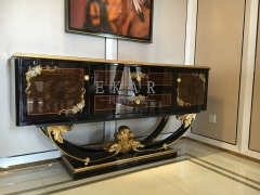 Newly Designed Solid Wood High Gloss Console Cabinet