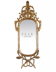 Slim Golden Framed Wooden Wall Mirror/Console Mirror/Bedroom Mirror/Decorative Mirror