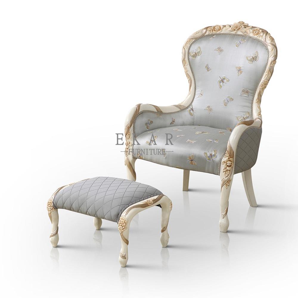 Gray Small Decorative Fabric Chairs Armchair - Ekar Furniture