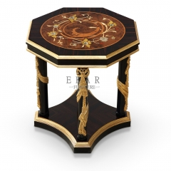 Nirvana Series Rhombic Wooden Side Table/End Table/Decorative Table