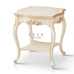 Royal Luxury White Side Table