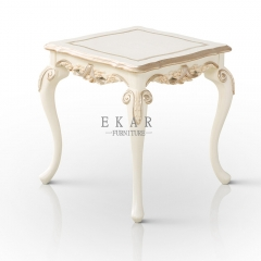 Elegant Victoria White Side Table