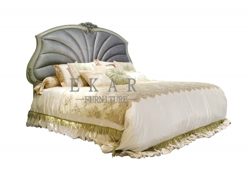 Ocean Shell King and Super Wide Size Wooden Bed Frame