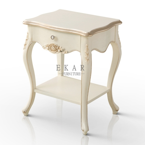 Ivory White and Rose Golden Delicate Nightstand