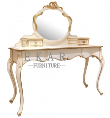 White Wooden Mirrored Vanity Table/Makeup Table/Bedroom Table