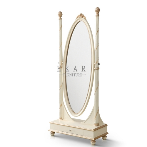 Elegant White Dressing Mirror/Vanity Mirror/Bedroom Mirror