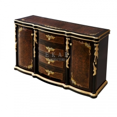 Classy Veneered 4 Chest of Drawers with Doors/Bedroom Sets/Bedroom Furniture