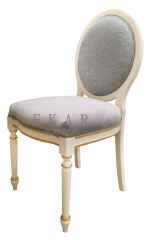 Delicate Small Grey Wooden Dressing Stool/Vanity Chair/Vanity Seat/Bedroom Stool