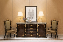Barcelona 2 Door 4 Drawer Sideboard Oak Designer Sideboard for Living Room Antique Solid Wood Sideboard