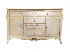 Modern French Sideboard  White Sideboard/Cabinet