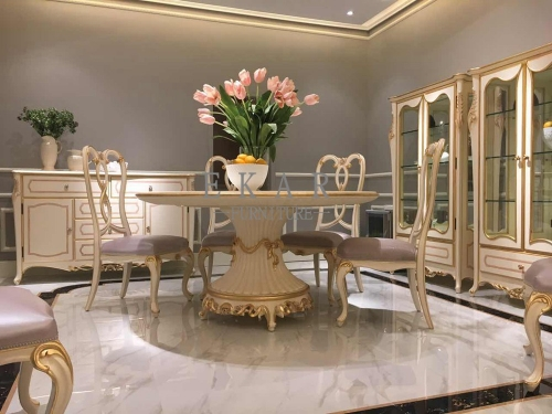 The Latest Luxury Style White and Golden Big Glass Cabinet/Curio Cabinet/Display Cabinet
