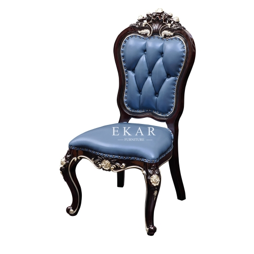 Luxury High Back Leather Upholstered Dining Chair