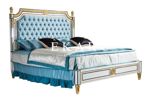 Spanish Royal Style Wood King Size Bed