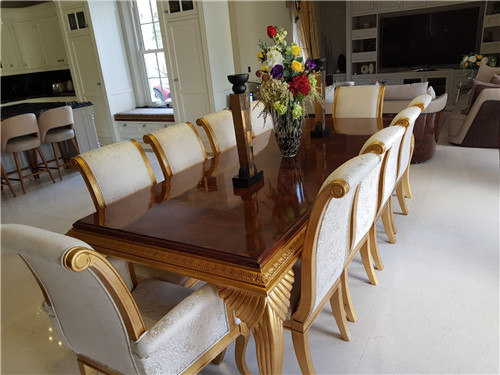18seater Chairs Carved Gold High Gloss