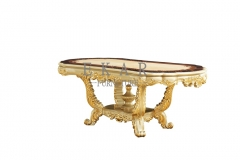 Classic Wooden Carved Oval 6 Seater Luxury Dining Table