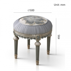 Small Round Grey Bedroom Furniture Dressing Stools/Vanity Chair/Vanity Seat/Makeup Stool