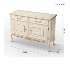 Ivory White Chest of Drawers