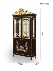 Alibaba Wholesale Chinese Antique Furniture Liquor Glass Cabinets/Cupboard