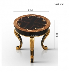 Varsace Furniture French Provincial End Table/Corner Table/Accent Table/Sunflower TT-012