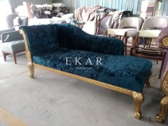 Antique Design Fabric Bedroom Chaise Lounge