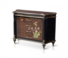 French Luxury Style Wooden 3 Chests of Drawers , The Lotus Pond by Moonlight series