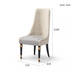 Furniture Simple High Back Leather Dining Chair