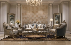 Classic Elegant Carved Living Room Furniture Set