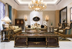 Baroque Style Luxury Gold Home Furniture Set