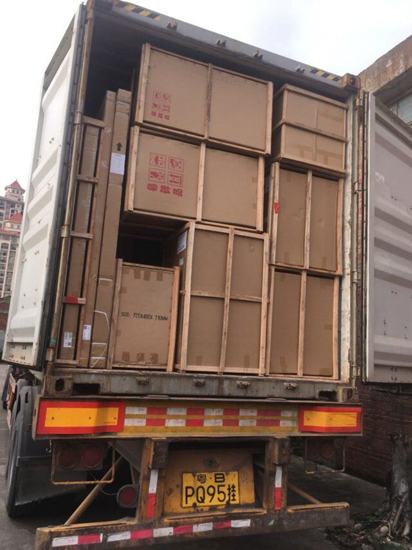 Loading container to Ukraine