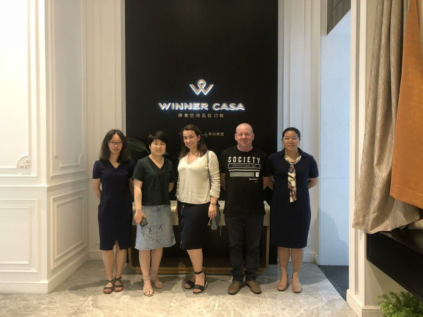 Welcome the Australian Customers Visit Our Showroom