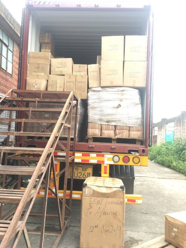 Loading Container To Albania