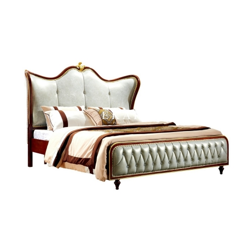 Classic American Style Leather King Size Bed