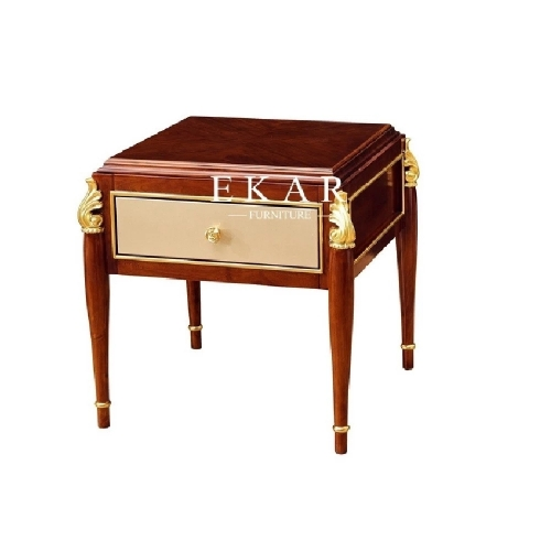 Classic Luxury Wooden Corner Side Table For Living Room Furniture