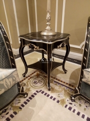 Royal Luxury Antique Carved Side Table
