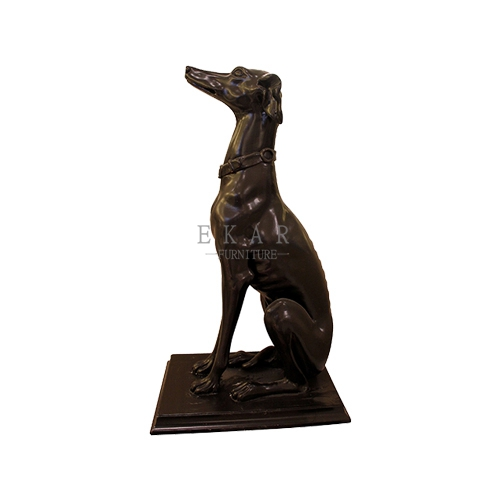 Solid Wood Hand Carved Wooden Dog