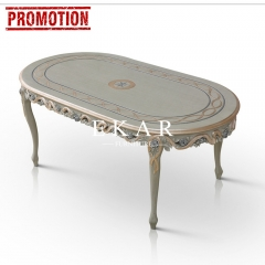 Antique Oval Silver Dining Table/Kitchen Table/Dinette Table