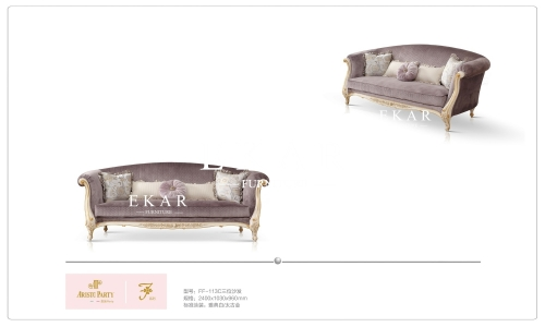 Light Purple Cloth Couch Sofa For Sale