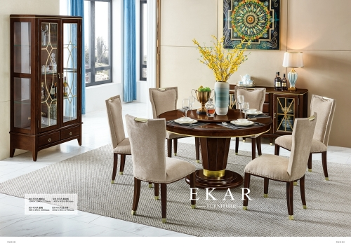 American high-end hotel round dining table