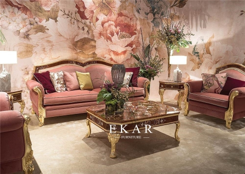 Warm Color Luxury Lady Majles Sofa set