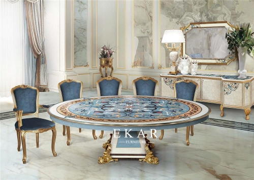 Classic Shell Round Dining Table