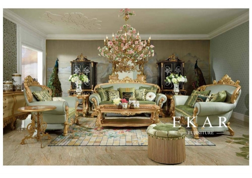 Exquisite and Luxury European Design Living Room Furnitures Sofa Sets