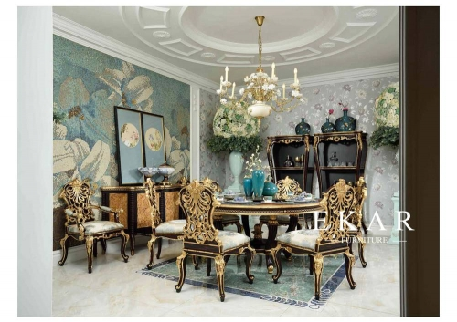 Exquisite and Classic Middle Ages Design Dining Room Furniture Sets