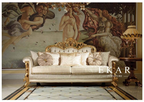 Luxury Italian Style Villa Living Room Furniture Sofa Sets